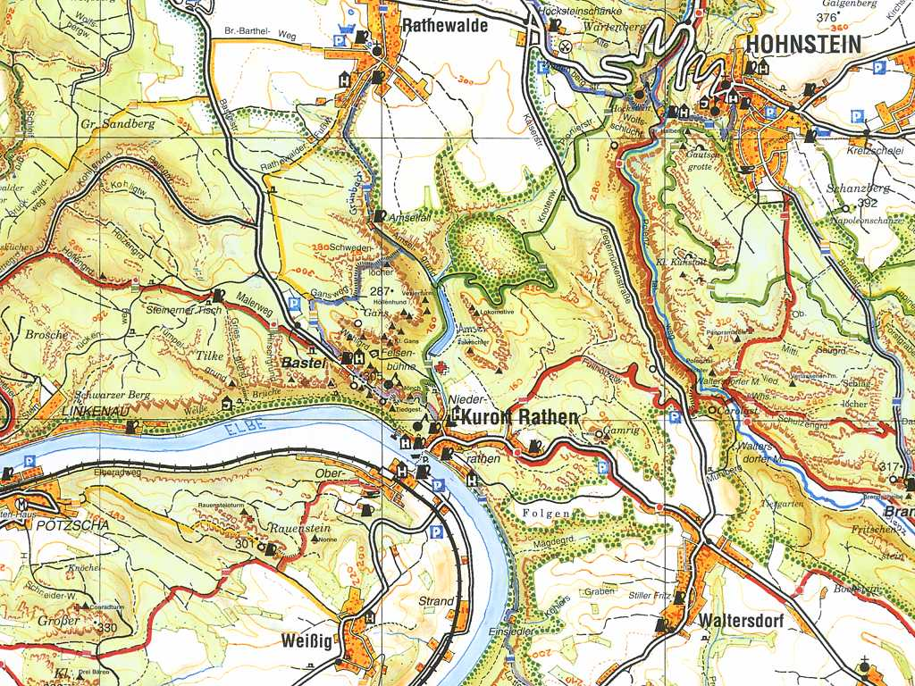 Die Bohm Wanderkarten Kartenausschnitte
